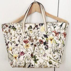 Gucci Floral Canvas Tote